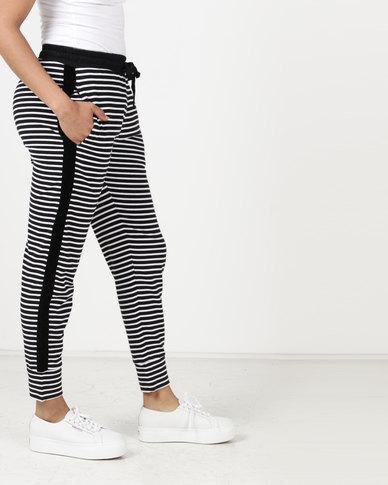 Elm Emmerson Track Pant Black & White Stripe