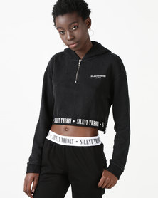 Silent Theory Last Call Hoodie Washed Black