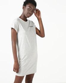 Silent Theory Machine Tee Dress Grey Marle