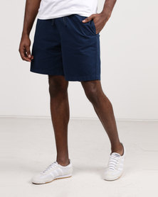 Resist Casual Shorts With Elasticated Waist Tie Navy