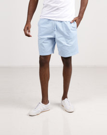 Resist Casual Shorts With Elasticated Waist Tie Pale Blue