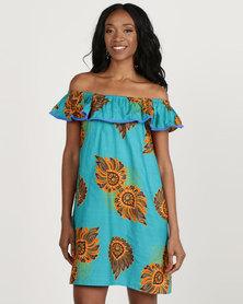 Kieke Off Shoulder Raglan Dress Multi