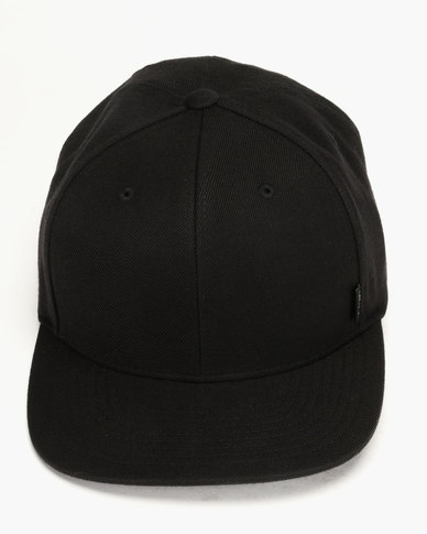 a364478fb Rip Curl Plain Snap Back Cap Black