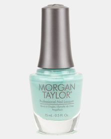 Morgan Taylor Ruffle Those Feathers Teal Creme