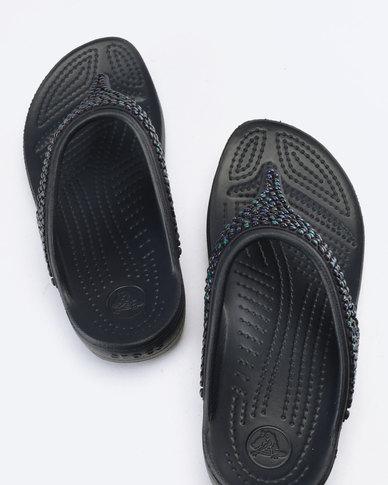 0836e5d73f40 Crocs Sloane Embellished Flip Flops W Navy Turquoise