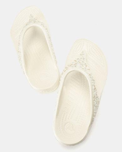 9c906cdaa3 Crocs Sloane Embellished Flip Flops W Oyster Multi