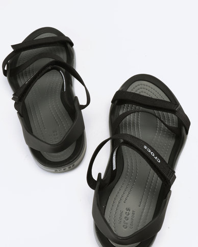 1d1511d8f4d1 Crocs Swiftwater Webbing Sandals W Black