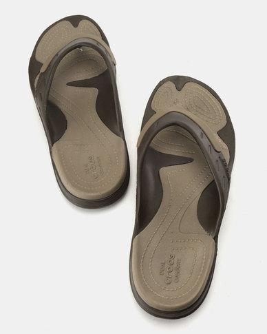 4b1c64a4f Crocs Modi Sport Flip Flops Brown