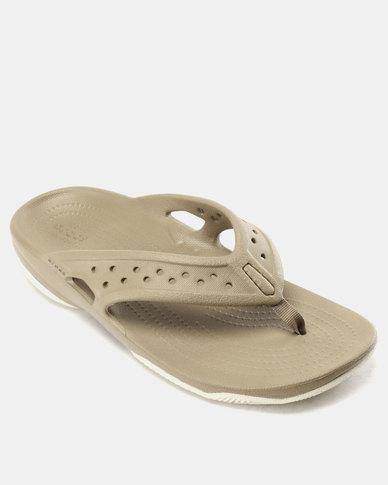 103df695c879 Crocs Swiftwater Deck Flip Flops M Green