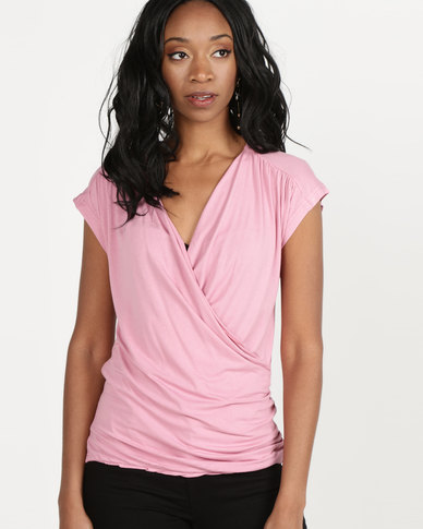 Utopia Wrap Tee Dusty Pink