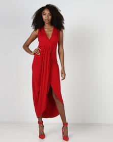 Utopia Maxi Wrap Dress Red