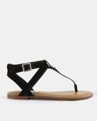 a93bd223365 Steve Madden Hidden Sandals Black Nubuck