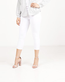 Revenge Capri Leggings White
