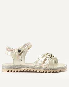 Bata Bubblegummers Girls Sandals Gold