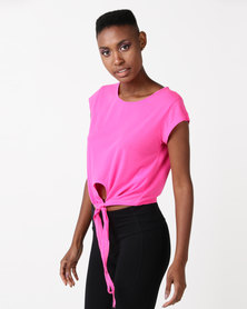 Utopia Tie Up Tee Pink