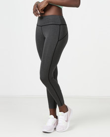 Utopia Inset Tights Dark Grey