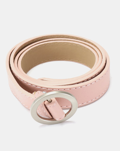 Joy Collectables Ring Buckle Belt Pink