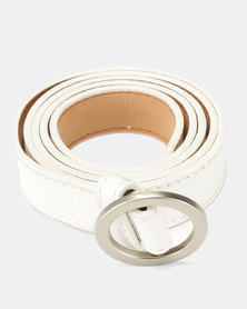 Joy Collectables  Ring Buckle Belt White