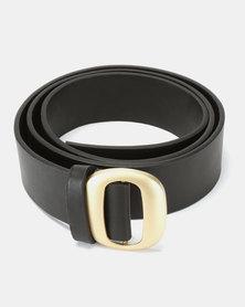 Joy Collectables Square Buckle Belt Black