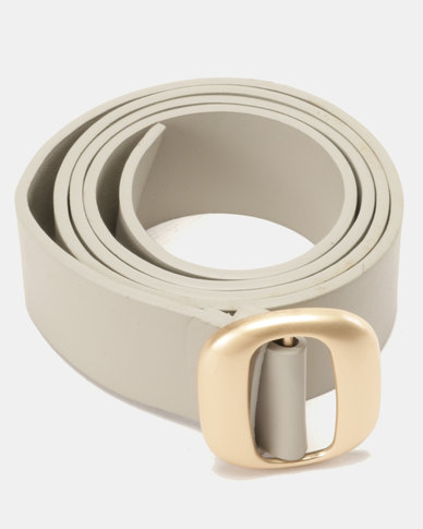Joy Collectables Square Buckle Belt Grey