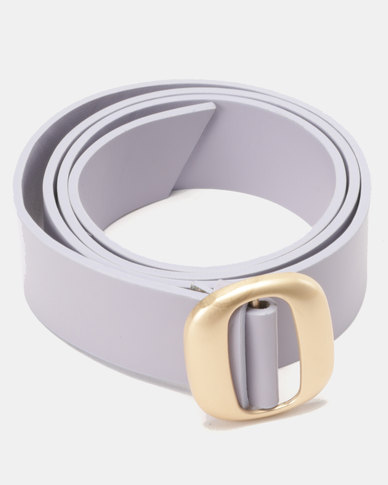 Joy Collectables Square Buckle Belt Pastel Lilac
