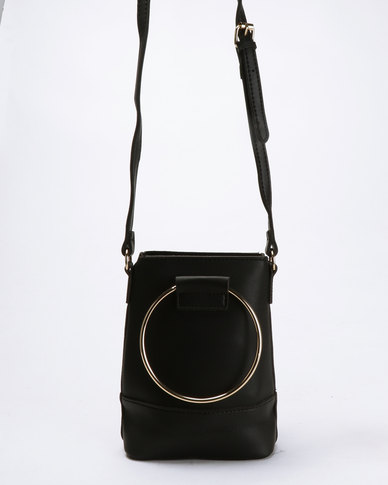 Joy Collectables Crossbody Bag with Ring Handle Black