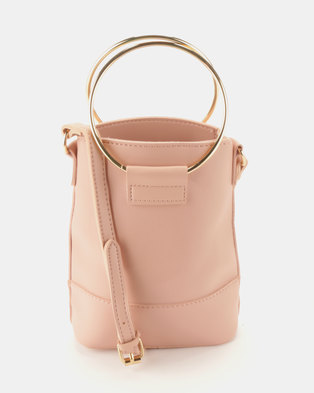 Joy Collectables Crossbody Bag With Ring Handle Pink