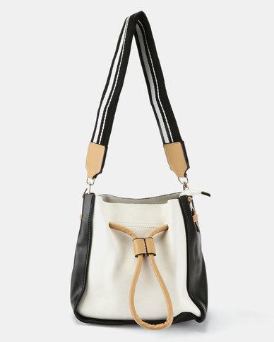 Joy Collectables Draw String Crossbody Bag Black And White Zando