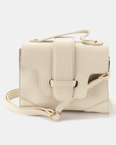 a087c608fbb6 Joy Collectables Simple CrossBody Satchel White