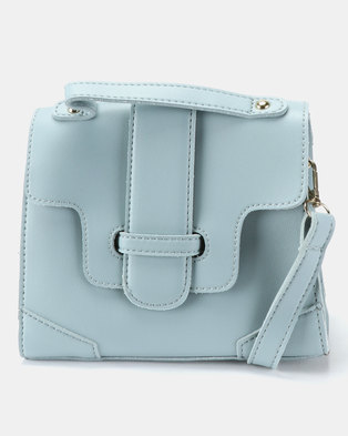 b1ba6889b612 Joy Collectables Simple Crossbody Satchel Baby Blue