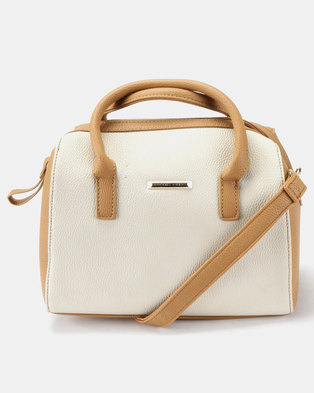 3dfb66de486c Joy Collectables 2 Tone Handbag with Strap Tan