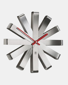 UMBRA Ribbon Clock Steel Grey