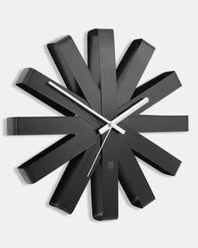 UMBRA Ribbon Clock Black