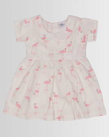 Kapas Baby Classic Dress Flamingos