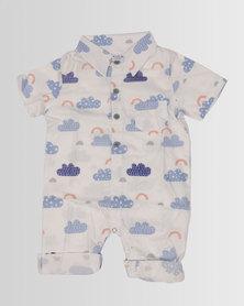 Kapas Baby Collard Onesie Clouds