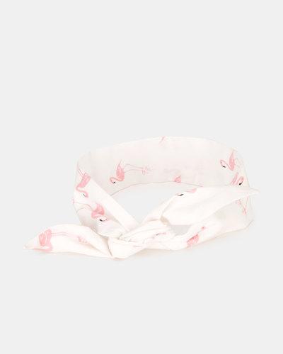 Kapas Baby Knot Headband Flamingos White | Zando