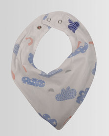 Kapas Baby Dribble Bib Clouds White