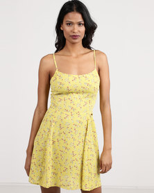Sissy Boy Printed Day Dress Yellow