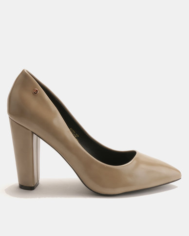 Dolce Vita Conil Patent Heels Taupe