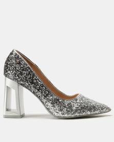 Dolce Vita Grande Metallic Heels Shimmer Grey