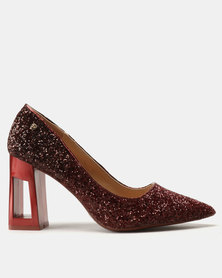 Dolce Vita Grande Metallic Heels Red-Purple