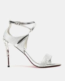 Dolce Vita Jenny Metallic Heels Silver