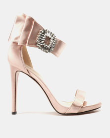 Dolce Vita Rachel Ankle Strap Heels Champagne Satin