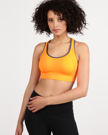 Fineapple Seamless Sports Bra With Removable Padding Orange
