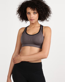 Fineapple Seamless Sports Bra With Removable Padding Grey