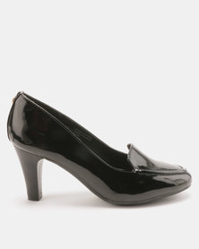 Bata Heeled Loafer Cut Court Heels Black