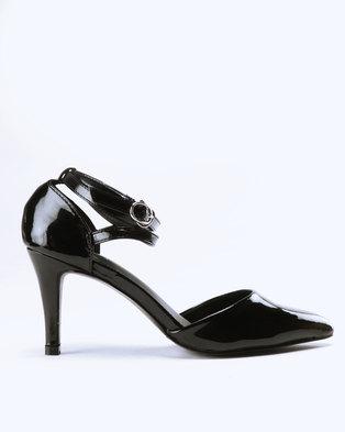 d56deaa775b Bata Heeled Multi Strap Court Black