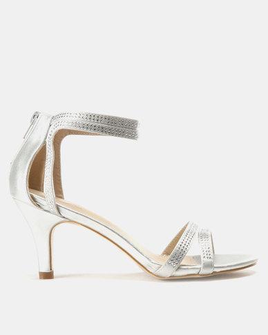 e14800459de Bata Strappy Heeled Sandal Silver