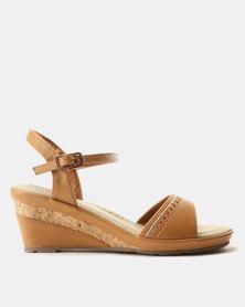 Bata Comfit Inset Wedge Sandals Tan