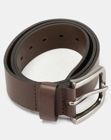 Wembley Ralph Full Grain Leather Belt Brown